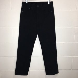 Rag & Bone Black Twill Ankle Straight Jean Black